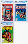 Modern Age (1980-Present):Superhero, Wolverine #1, 2, and 4 CGC-Graded Group (Marvel, 1982).... (Total: 3 )