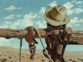 Paintings, Kay M. Hendricks (American, 1923-2005). Old River Corral. Oil on panel. 12 x 16 inches (30.5 x 40.6 cm). Signed lower le...