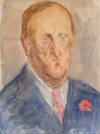 Raphael Soyer (American, 1899-1987) Portrait of Marsden Hartley, 1943 Watercolor on paper 12 x 9