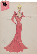 Movie/TV Memorabilia:Original Art, Edith Head Artwork. . ...