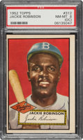 Baseball Cards:Singles (1950-1959), 1952 Topps Jackie Robinson #312 PSA NM-MT 8 (OC)....