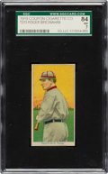 Baseball Cards:Singles (Pre-1930), 1919 T213 Coupon Cigarettes (Type 3) Roger Bresnahan (Toledo) SGC 84 NM 7 - Pop One, None Higher....