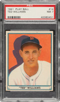 Baseball Cards:Singles (1940-1949), 1941 Play Ball Ted Williams #14 PSA NM 7....