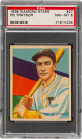 Baseball Cards:Singles (1930-1939), 1934-36 Diamond Stars Pie Traynor (1935 Green) #27 PSA NM-MT 8 - Only Two Higher. ...