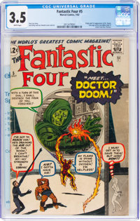 Fantastic Four #5 (Marvel, 1962) CGC VG- 3.5 White pages