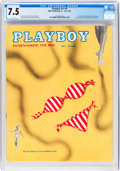 Magazines:Vintage, Playboy #8 (HMH Publishing, 1954) CGC VF- 7.5 White pages....