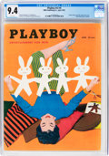 Magazines:Vintage, Playboy V2#4 (HMH Publishing, 1955) CGC NM 9.4 White pages....