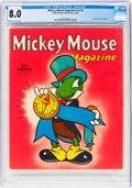Golden Age (1938-1955):Cartoon Character, Mickey Mouse Magazine V5#5 (K. K. Publications/Western Publishing Co., 1940) CGC VF 8.0 Off-white to white pages....