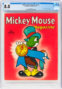 Mickey Mouse Magazine V5#5 (K. K. Publications/Western Publishing Co., 1940) CGC VF 8.0 Off-white to white pages