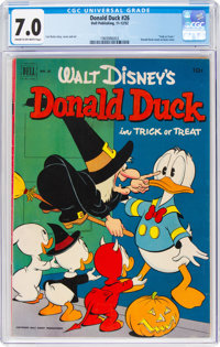Donald Duck #26 (Dell, 1952) CGC FN/VF 7.0 Cream to off-white pages