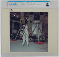 """Apollo 11: Original NASA """"Red Number"""" Color Photo of Neil Armstrong in Training at the Manned Spacecraft Cente..."""