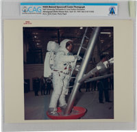 """Apollo 11: Original NASA """"Red Number"""" Color Photo of Neil Armstrong in a Lunar Surface Simulation at the Manne..."""