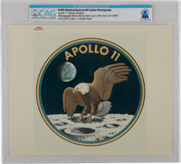 """Apollo 11: Original NASA """"Red Number"""" Color Photo of the Mission Insignia, June 1969, Directly From The Armstr..."""