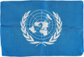 Explorers:Space Exploration, Apollo 16 Flown Larger-Size United Nations Flag Directly from the John W. Young Collection, with Letter of Certification. ...