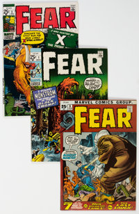 Fear #1-6 Group (Marvel, 1970-72) Condition: Average VF+.... (Total: 6 Comic Books)