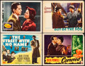 """Movie Posters:Film Noir, The Street with No Name & Other Lot (20th Century Fox, 1948). Fine+. Title Lobby Card & Lobby Cards (3) (11"""" X 14""""). Film No... (Total: 4 Items)"""