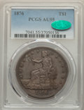 Trade Dollars: , 1876 T$1 AU55 PCGS. CAC. PCGS Population: (54/462). NGC Census: (21/364). AU55. Mintage 455,000. ...