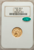 Indian Quarter Eagles: , 1929 $2 1/2 MS64 NGC. CAC. NGC Census: (2827/287). PCGS Population: (2037/228). MS64. Mintage 532,000. ...