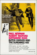 """Movie Posters:Western, Butch Cassidy and the Sundance Kid (20th Century Fox, 1969). Folded, Very Fine. One Sheet (27"""" X 41"""") Style B. Western.. ..."""