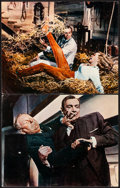 """Movie Posters:James Bond, Goldfinger (United Artists, 1964). Fine/Very Fine. British Lobby Cards (2) (11"""" X 14""""). James Bond.. ... (Total: 2 Items)"""