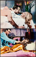 """Movie Posters:James Bond, Goldfinger (United Artists, R-Early 1970s). Very Fine-. British Lobby Cards (2) (11"""" X 14""""). James Bond.. ... (Total: 2 Items)"""