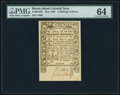Colonial Notes:Rhode Island, Rhode Island May 1786 2s 6d PMG Choice Uncirculated 64.