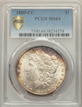 1880-CC $1 MS64 PCGS. PCGS Population: (5073/3613 and 254/227+). NGC Census: (2826/1590 and 63/64+). CDN: $525 Whsle. Bi...