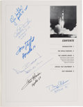 "Explorers:Space Exploration, ""Description of the Landing Radar for the Apollo Lunar Module"" Book by Teledyne Ryan Aeronautical Signed by Six Astronauts, in..."