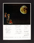 Explorers:Space Exploration, Apollo Reunion, July 16, 1986, Washington, D.C.: Original Poster Signed by Eighteen Astronauts including Eight Moonwalkers, wi...