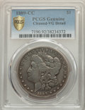 1889-CC $1 -- Cleaned -- PCGS Genuine. VG Details. NGC Census: (314/4245 and 0/16+). PCGS Population: (520/7559 and 0/17...