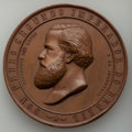 """World Lots: Pedro II bronze """"Fourth National Exposition"""" Medal 1875 AU"""