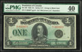 World Currency, Canada Dominion of Canada $1 2.7.1923 DC-25f PMG Extremely Fine 40.. ...