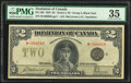 World Currency, Canada Dominion of Canada $2 23.6.1923 DC-26f PMG Choice Very Fine 35.. ...