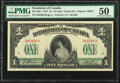 World Currency, Canada Dominion of Canada $1 17.3.1917 DC-23a-i PMG About Uncirculated 50.. ...