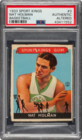 Baseball Cards:Singles (1930-1939), 1933 Sport Kings Nat Holman (Patent Card) #3 PSA Authentic/Altered - Unique! ...