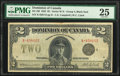 World Currency, Canada Dominion of Canada $2 23.6.1923 DC-26l PMG Very Fine 25.. ...