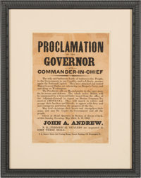 Civil War: 1862 Broadside Beseeching Troops for the Defense of Washington