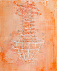 Ross Bleckner (b. 1949) Untitled (Chandelier), 1987 Oil on canvas 9-7/8 x 8 inches (25.1 x 20.3 cm) Initialed and da