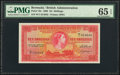 World Currency, Bermuda Bermuda Government 10 Shillings 1.10.1966 Pick 19c PMG Gem Uncirculated 65 EPQ.. ...
