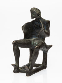 Francisco Toledo (1940-2019) Seated Woman Bronze with greenish-black patina 6 inches (15.2 cm) hi