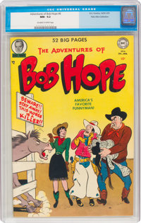 The Adventures of Bob Hope #6 Palo Alto Pedigree (DC, 1950) CGC NM- 9.2 Off-white to white pages