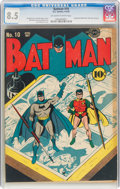 Golden Age (1938-1955):Superhero, Batman #10 (DC, 1942) CGC VF+ 8.5 Off-white to white pages....