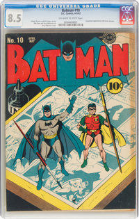 Batman #10 (DC, 1942) CGC VF+ 8.5 Off-white to white pages