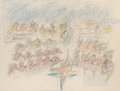 Fine Art - Work on Paper:Drawing, Roberto Matta (1911-2002) Il sol del Solti M...