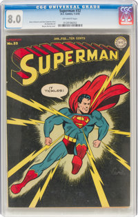 Superman #32 (DC, 1945) CGC VF 8.0 Off-white pages