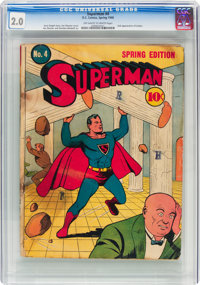 Superman #4 (DC, 1940) CGC GD 2.0 Off-white to white pages