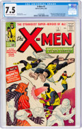 Silver Age (1956-1969):Superhero, X-Men #1 (Marvel, 1963) CGC VF- 7.5 Off-white to white pages....
