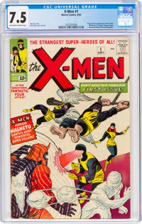X-Men #1 (Marvel, 1963) CGC VF- 7.5 Off-white to white pages