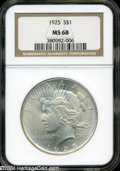 Peace Dollars: , 1925 S$1 MS68 NGC....