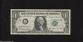 Error Notes:Ink Smears, Fr. 1902-J $1 1963-B Federal Reserve Note. Fine....